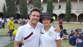Annika Rennett mit BSW-Teamkollege Philipp Räder in Italien auf der IFAA WBHC