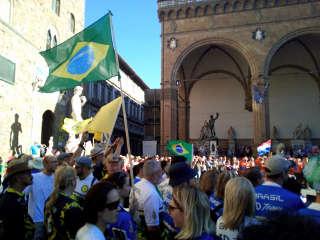 Eröffnungsfeier am Piazza della Signoria und Palazzo Vecchio in Florenz