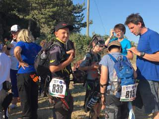 Marten Hecht beim Start am letzten Tag der WBHC 2017 in Italien