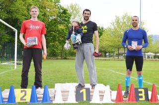 Knapper 2. Platz für Marco Kreische beim Run Archery du Chablais