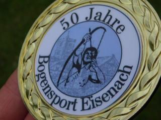 Medaille 50 Jahre Bogensport Eisenach