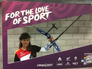Annedore Röbsich auf den World Master Games in Auckland, Neuseeland