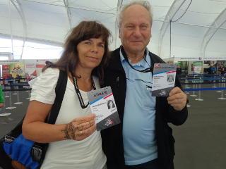 Annedore mit Ehemann und Trainer Helmfried Röbisch