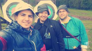 Ahmad Jazi hatte trotz Regenwetter Spaß am Zielen