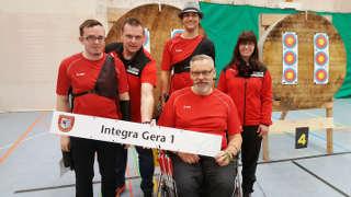 Hannes Fuhrmeister mit seinen Schützenkollegen vom Integra Gera 1