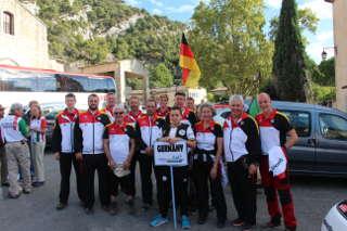 Das deutsche Team der WM 3D in Robion, Frankreich