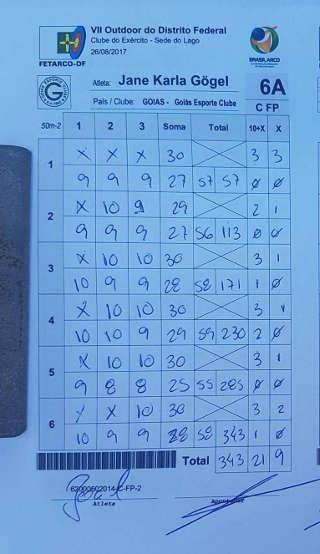 343 Ringe in Runde 2 verhalfen Jane zum neuen brasilianischen Rekord von 695
