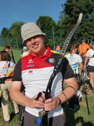 Richard Klesmann auf der EM Feldbogen in Slowenien