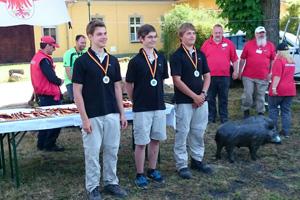 Compoundschütze Nico Schoppe wird Erster bei der Landesmeisterschaft 3D Brandenburg 2015 des DBSV in Schorfheide