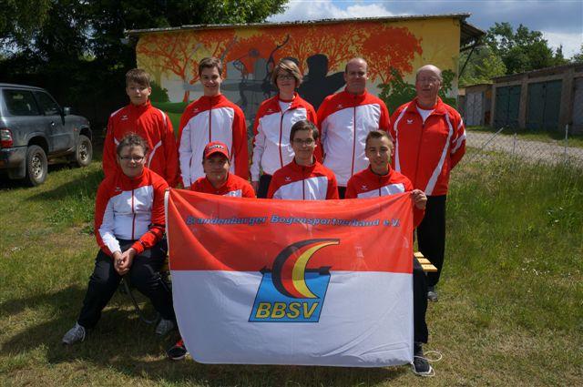 Compoundbogenschütze Kevin Ohme und Team beim Sichtungsschießen des BBSV Jugendkaders 2015