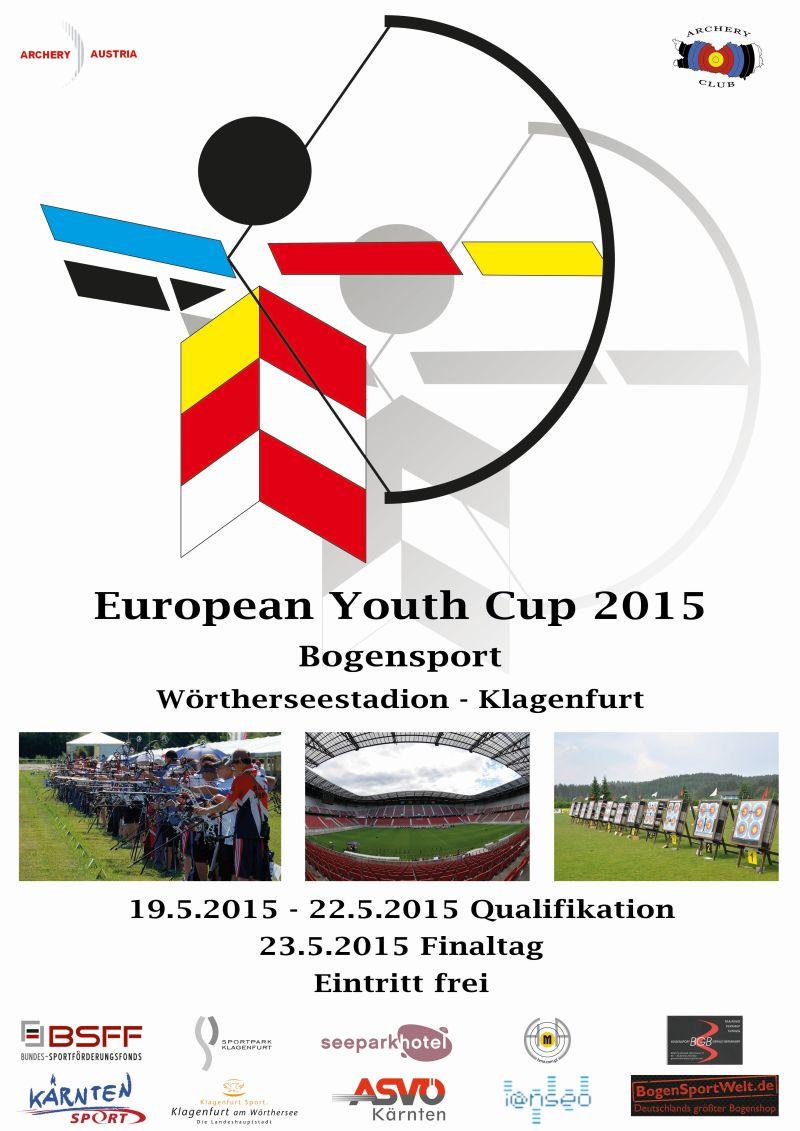 Flyer 1st European Youth Cup 2015 in Klagenfurt, Österreich