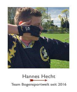 Hannes Hecht ist Recurve- und Blankbogenschütze im BSW-Sponsoring-Team