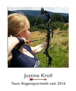 Justine Kroll ist Compoundschützin im Team der BogenSportWelt.de