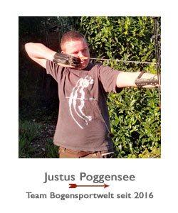 Justus Poggensee ist Blankbogenschütze im Team der BogenSportWelt.de