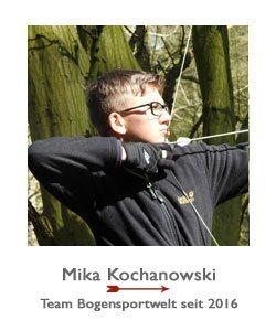 Mika Kochanowski ist Blankbogenschütze im Team BogenSportWelt