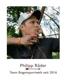 Philipp Räder ist Recurvebogenschütze im Team BogenSportWelt