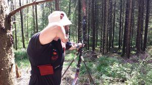 Recurveschütze Stefan Voß beim 3D Turnier der BSC Buronen Kaufbeuren 2015