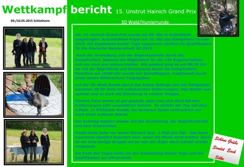 Silke Müllers Wettkampfbericht zum 15. Unstrut Hainich Grand Prix 2015