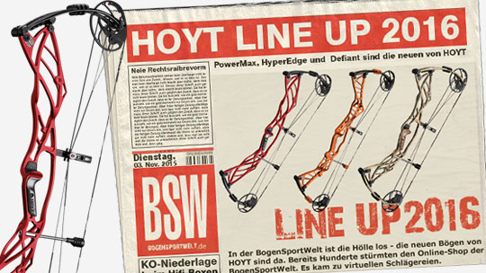 Das Hoyt Compound Line Up 2016 - ab sofort bei der BogenSportWelt bestellbar