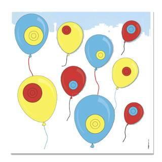 Auch Luftballons schießen ohne langes Aufpusten ist möglich!