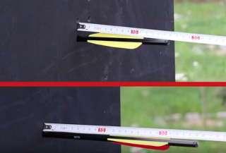 Beschusstest: Oben ohne, unten mit PremiumProtect Backstopp - 9 cm Unterschied!