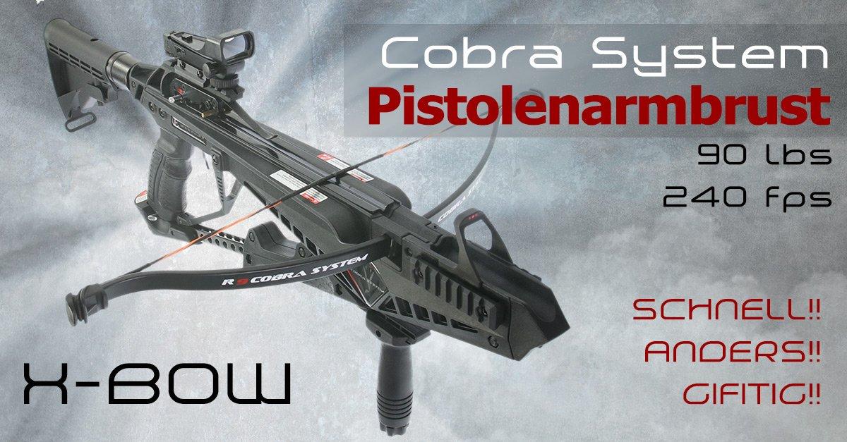Die schlägt ein wie eine Bombe: die neue X-Bow Cobra System mit Schnellspannhebel