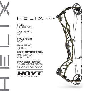 """Der Helix Ultra ist mit 32"""" Auszug auch für größere Schützen geeignet"""