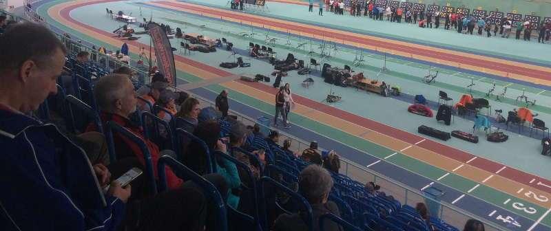 Die DM Halle des DFBV fand in einer Leichtathletikhalle eine tolle Veranstaltungsstätte
