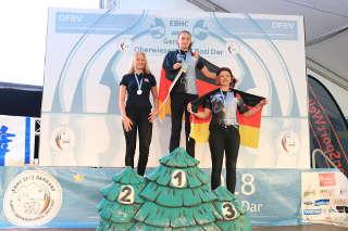 Sie konnte sich den Titel Europameisterin mit einem neuen Europarekord sichern