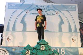 Auch Hannes Hecht errang die Goldmedaille und ist damit Europameister 2018