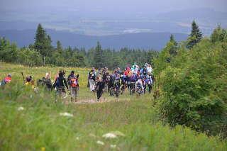 Gruppenwanderung durch die Berge...