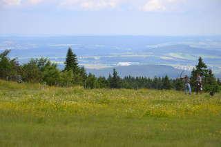 Der Ausblick vom Fichtelberg ist wirklich unschlagbar