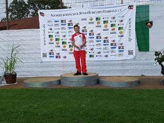 Unser Leon wurde gleich mit einem neuen Landesrekord Landesmeister NSSV WA im Freien