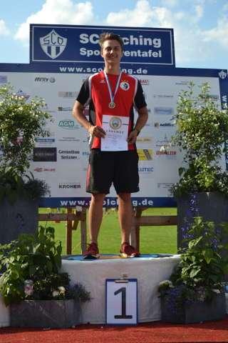 Moritz Wieser freute sich so richtig über seinen Landesmeistertitel bei den Junioren