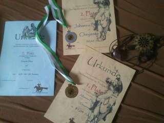 Die Ausbeute der Sachsenmeisterschaft hat sich gelohnt: Urkunden und Medaillen
