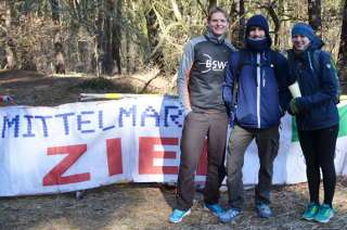 Marco, Martin und Mareike hatten einen lustigen Tag beim Crosslauf Luckenwalde