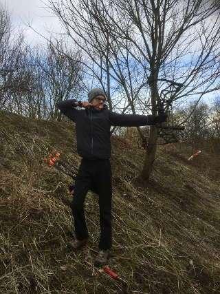 Bei eisigen Termperaturen kämpfte sich auch Mika durch das Winterturnier - diesmal mit dem Compound