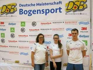 Ute, Judith und Jakob vom BSC Reuth auf der DM Halle DSB
