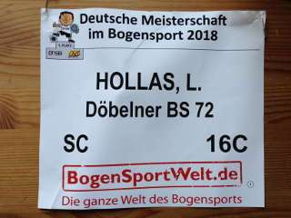 Leon Hollas startete mit der Nummer 16C auf der DM Halle in Solingen