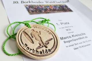 Diese Medaille wird Marco wohl noch lange in Erinnerung bleiben...