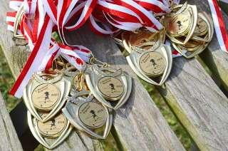 Um diese schönen Medaillen ging es (neben der Ehre) beim Werderaner Bogenlauf