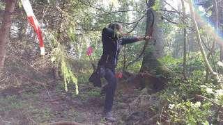 Annika bei einem Turnier ihrer persönlichen Bucket List: das Bearpaw Killturnier