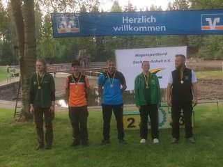 Neuer Landesmeister Wald U20 Blankbogen: ebenfalls Hannes Hecht
