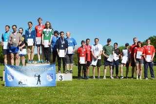 Auch mit der Staffel erzielte Marco den 1. Platz