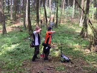 Wirklich schön: der Harzwald-Parcours des Hasselfelder Bogensport Clubs