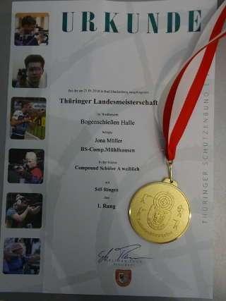 Neue Bestleistung, Landesmeister und -Rekord in einem - bei Jona läuft's!