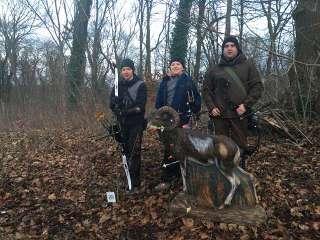 Hannes Hecht, Marten Hecht und Ronny Schmidt gingen die Manfelder Bogenjagd
