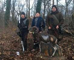 Hannes und Marten Hecht trafen Ronny Schmidt auf der Mansfelder Bogenjagd