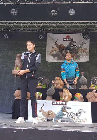 Auch auf dem Freilichtbühnen 3D Turnier konnte sich Annika Rennett über den Sieg freuen - und das in der Damenklasse!