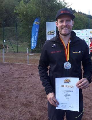 Philipp Räder wurde 2018 deutscher Vize-Meister 3D des DSB